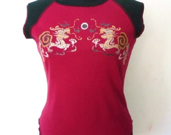 Vintage Wetseal Chinese Dragons T-Shirt