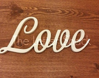 Choose your CUSTOM 4 Inch Unfinished Wooden Connected Letter Words, Names, Phrase in Beautiful Cursive Font