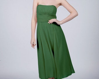 Emerald Green Strapless Short Bridesmaid/Prom Dress with Matching Items Available by Matchimony