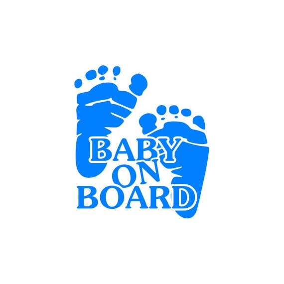 Baby On Board Vinyl Decal Baby Footprints Decal By
