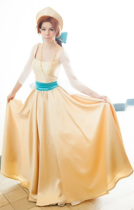 Robe de princesse jaune adulte