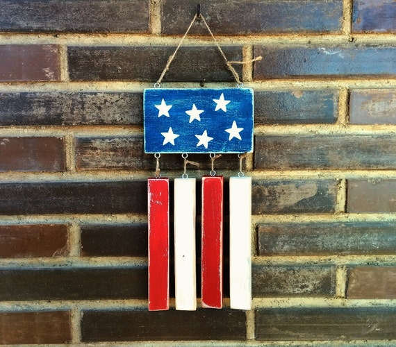 Items similar to rustic american flag wall art flag for American flag decoration