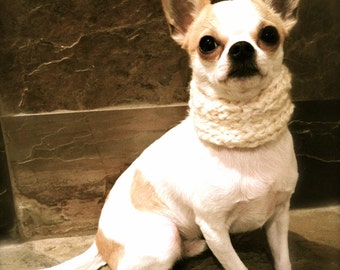 Knitted Dog Cowl