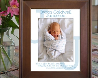 Custom Photo Mat Personalized for Baby Boy
