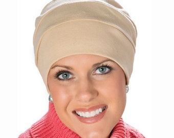 100% Cotton Three Seam Turban for Woman | Chemo Hats, Cancer Hats, Head Covers, Chemotherapy, Head Covering Beanie