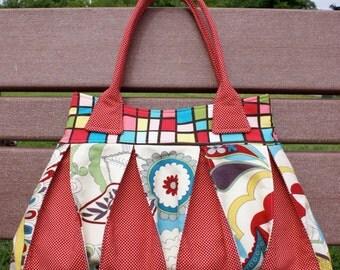 Sewing pattern of Raspberry Ripple handbag