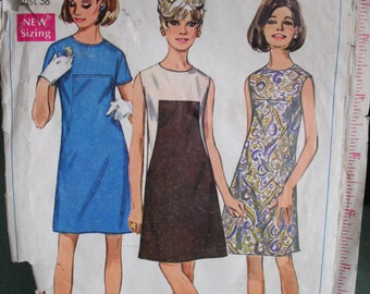 Vintage Sewing Pattern- Simplicity 7535, 1968, Size 16