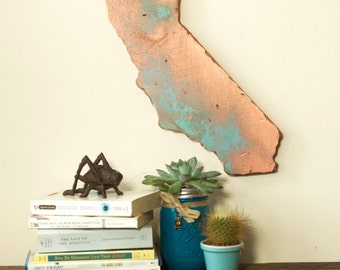 CALIFORNIA State Wood Cut Out Silhouette Wall Art Decor House Warming Vintage