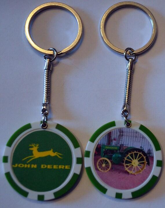 Old Tractor Keys : John deere antique tractor farm poker chip keychain key chain