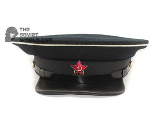 Soviet russian Red Army Naval RKKA Officer's USSR visor cap WWII military hat