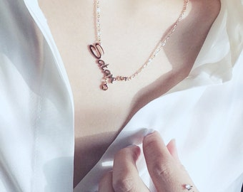 Capricorn Satan Necklace Horoscope Necklace The Goat Necklace 18K Rose Gold Charm Necklace Star Sign Pendant Necklace Birthday Gift