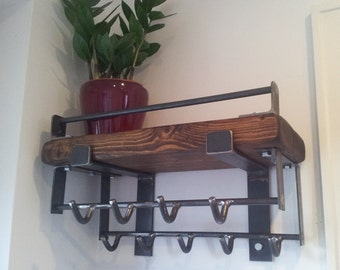 vintage looking coat hook rail