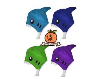 Shark Fleece Hat Beanie - PDF Sewing Craft Pattern and full tutorial