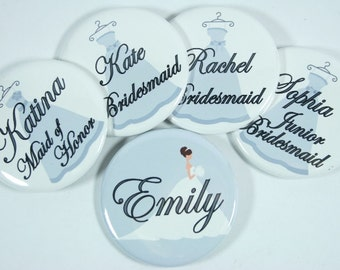 Bridesmaid Dresses Personalized Wedding Name Tags