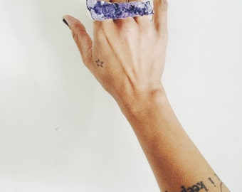 ready to ship - a stunning showstopper amethyst multi finger ring
