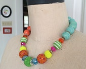 Carnivale - asymmetrical necklace