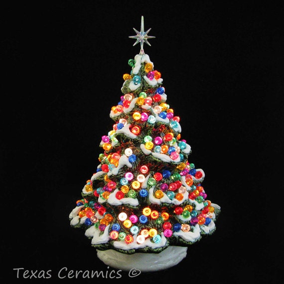 Ceramic Christmas Tree Shenandoah Pine With Snow By