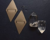 as above, so below - triangle diamond earrings - edgy occult inspired jewelry