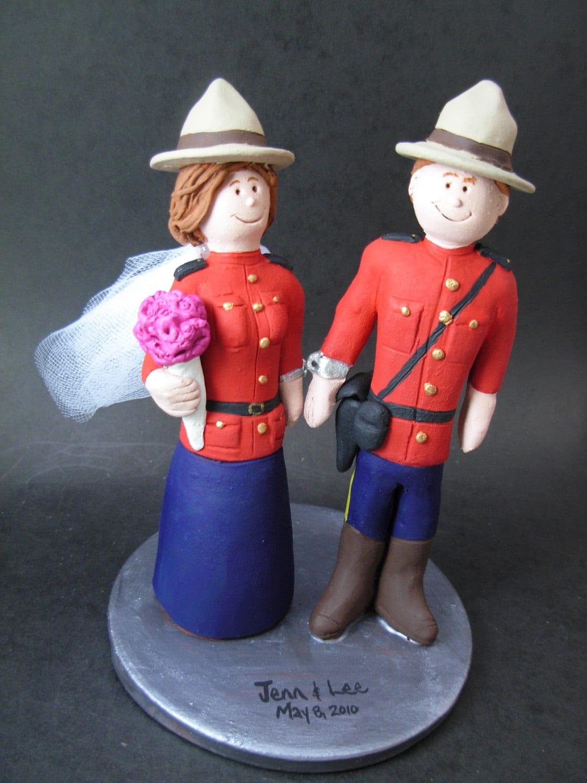 Rcmp Mountie Wedding Cake Topper