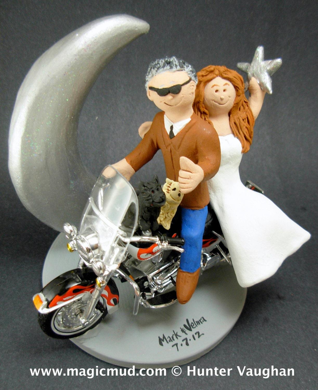 Harley Motorcycle Wedding Cake Topper Wedding Cake Topper For