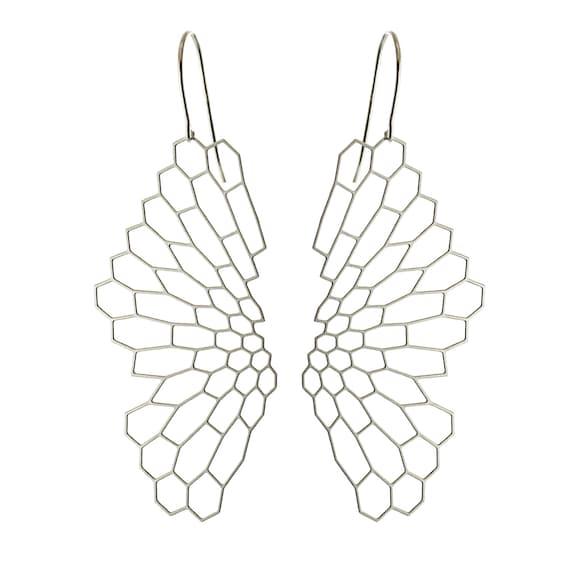 Radiolaria Earrings (stainless steel)