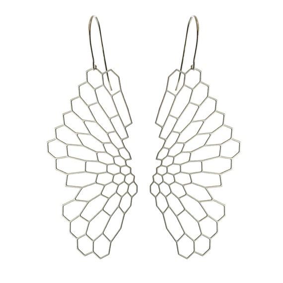 Radiolaria Earrings (stainless steel or gold) // geometric jewelry // art - science - nature // minimalist