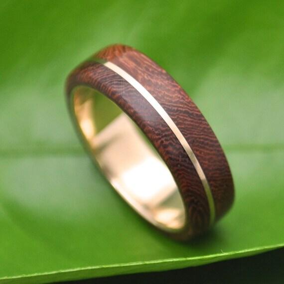 Holz-Ring Gold Asi Nacascolo - Ecofriendly Holz Hochzeitsband mit ...