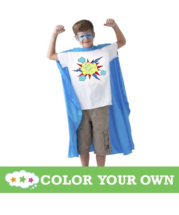 Color Your Own T-Shirt: 3 Designs & Sizes To Choose From