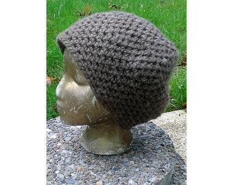 Hippie Crochet Earthy Beanie Hipster Skullcap Hat Small