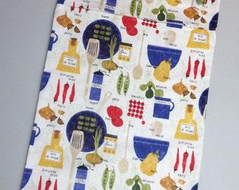 Cooking Italiano 13x20 kitchen wetbag - unpaper towel, reuseable towel laundry bag