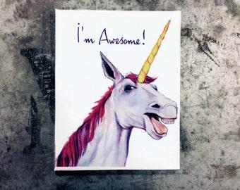 I'm Awesome Unicorn magnet