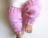 Pink Leg Warmers. Toddler 12 Months Over the Knee Leggings. Baby Girl Leg Wear. Girl Slouchy Leggins. Knit Girls Boot Leg Warner's