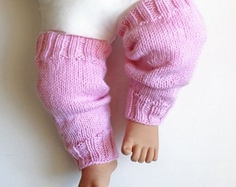 Pink Leg Warmers. Toddler 12 Months Over the Knee Leggings. Baby Girl Leg Wear. Girl Slouchy Leggins. Knit Girls Boot Leg Warner's