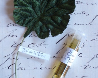 Sol de la Foret Natural Perfume Sample, Travel Size, Botanical Fragrance, Artisanal, Small Batch, Handmade in Brooklyn, NY