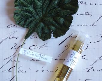 Sol de la Foret Natural Perfume Sample, Travel Size, Botanical Fragrance, Artisanal, Small Batch, Handmade in Brooklyn, NY