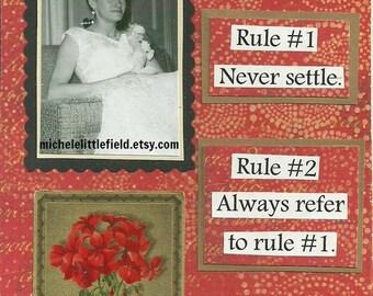Never Settle Encouraging Friendship Greeting Card