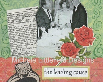 The Leading Cause of Divorce is Marriage Funny Greeting Card