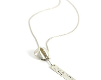 a dream you have will come true - fortune cookie lariat with fortune message in front