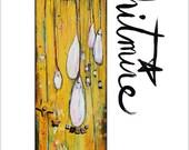 Sunny Cloud -Couragous Quest- Mixed Media Art Print