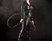 catwoman retro motorcycle costume faux leather size 4