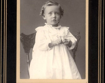 vintage photo Beautiful Baby in White gown Canyon City Oregon Cabinet