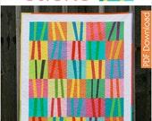 Modern Quilt Pattern - Pick Up Sticks - PDF
