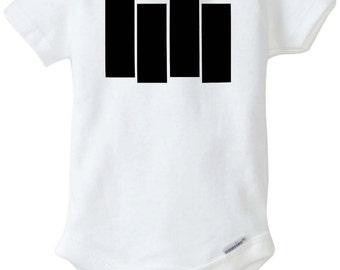 Black flag logo kids t-shirt or onesie