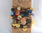 Crocheted Vintage Button Garland Decoration