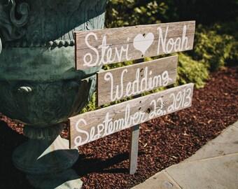 Rustic Wedding Signs, Script Romantic Outdoor Weddings Hand Painted Reclaimed Wood. Rustic Weddings. Vintage Weddings Road Signs Barn