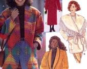 Womens southestern coat rustic fashion Butterick 3026 sewing pattern Sz 8 to 12 Uncut