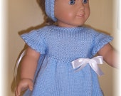American Girl Clothing...Hand Knitted...Sweater Dress /Matching Headband