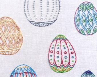 Eggs Hand Embroidery Pattern, Ukrainian Eggs, Easter Eggs, Faberge, PDF