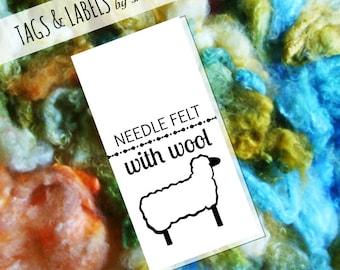 Printable PDF Craft Show Tags - Needle Felt with Wool Label featuring a Sheep