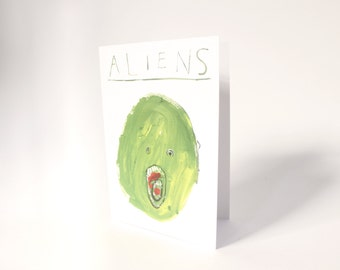 Aliens! - Quirky, funny and rude greetings / christmas /birthday / valentines day card